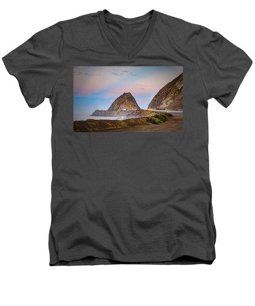 Early Morning At Mugu Rock Men's V-Neck T-Shirt