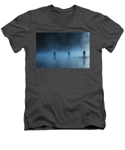 Early Morning Fishing Men's V-Neck T-Shirt
