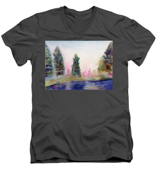 Early Morning Forest Men's V-Neck T-Shirt