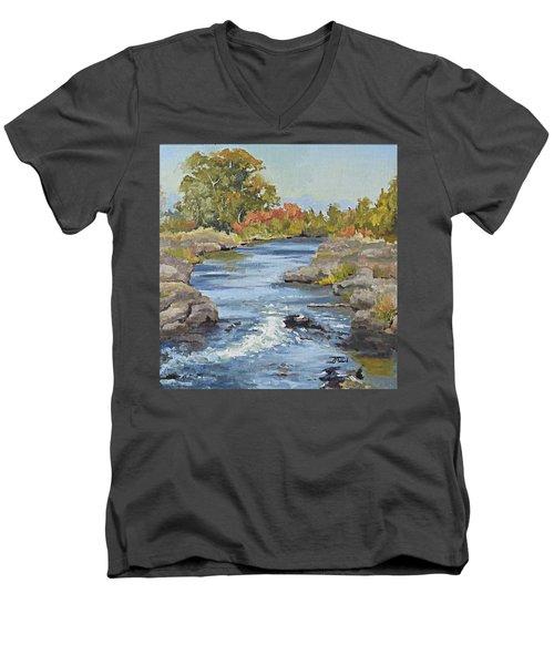 Early Morning In Idaho Men's V-Neck T-Shirt