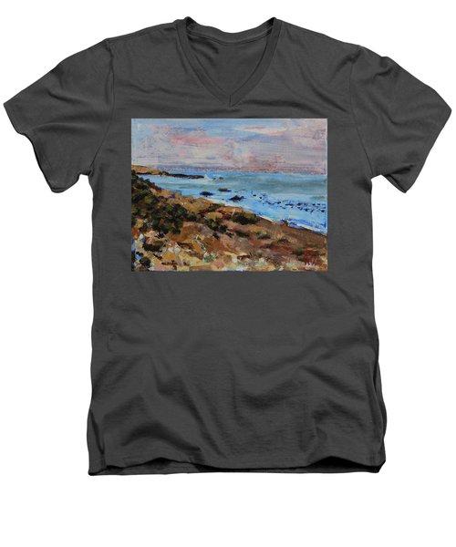 Early Morning Low Tide Men's V-Neck T-Shirt