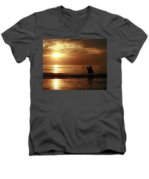 Early Morning Ride Men's V-Neck T-Shirt