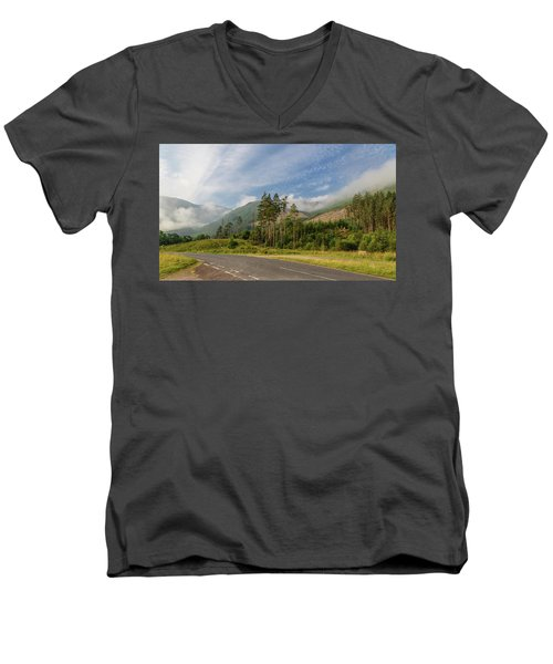 Men's V-Neck T-Shirt featuring the photograph Early Morning by Sergey Simanovsky