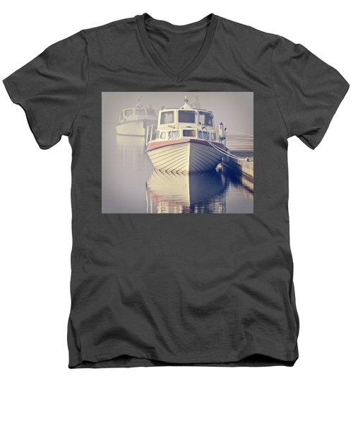 Men's V-Neck T-Shirt featuring the photograph Early Morning Softness by Ari Salmela