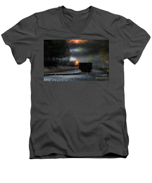 Early Morning Steel Men's V-Neck T-Shirt