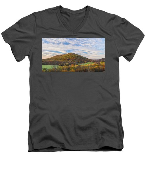 Early Morning Trestle Skies Men's V-Neck T-Shirt
