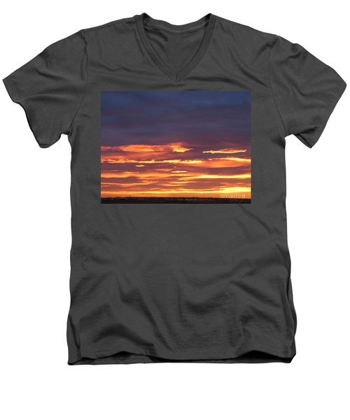 Early Prairie Sunrise Men's V-Neck T-Shirt