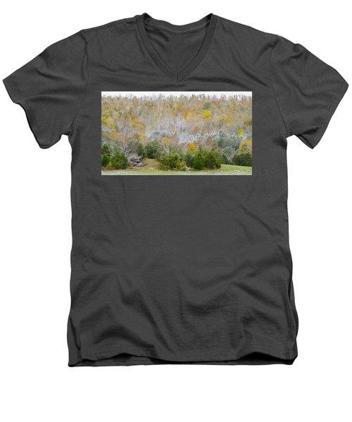Early Snow Fall Men's V-Neck T-Shirt