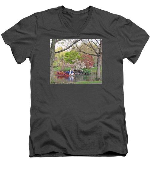 Early Spring Boston Men's V-Neck T-Shirt
