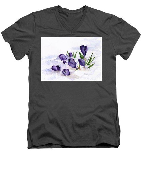 Early Spring In Montana Men's V-Neck T-Shirt
