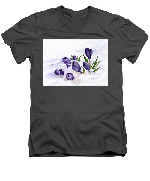 Early Spring In Montana Men's V-Neck T-Shirt