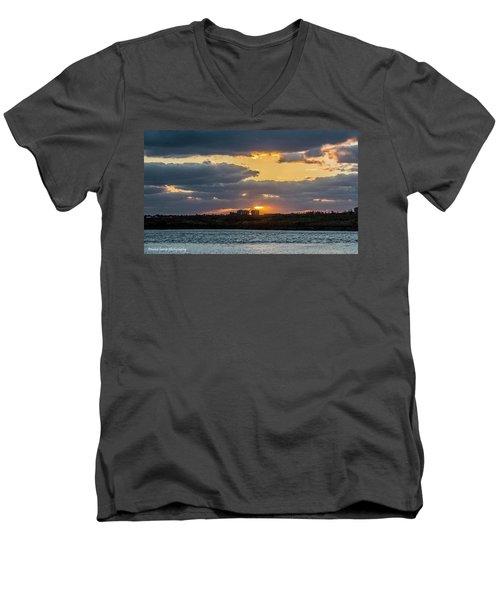 Early Sun Men's V-Neck T-Shirt by Nance Larson