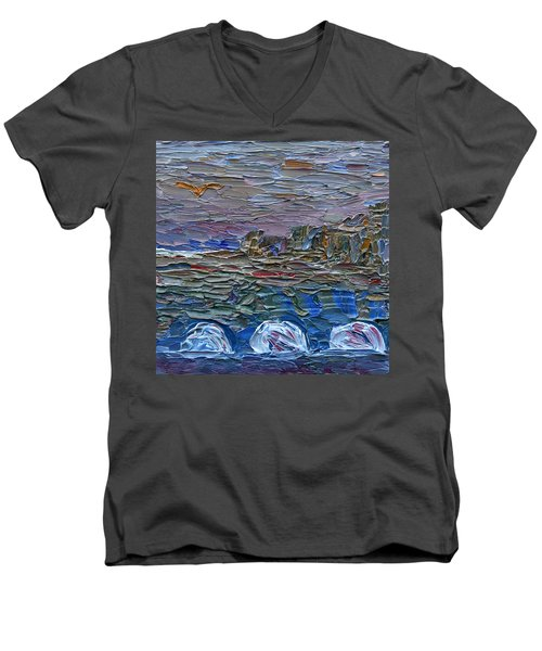 Early Winter In New Jersey Men's V-Neck T-Shirt by Vadim Levin