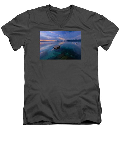 Early Winter Men's V-Neck T-Shirt by Sean Sarsfield