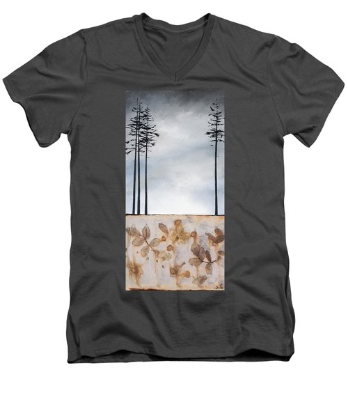 Earth And Sky Men's V-Neck T-Shirt by Carolyn Doe