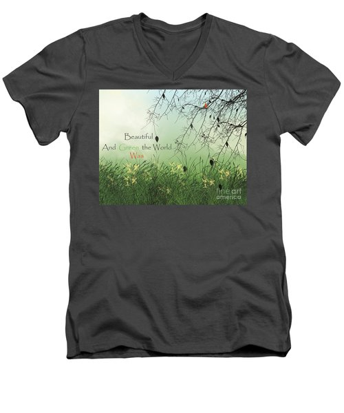 Earth Day 2016 Men's V-Neck T-Shirt