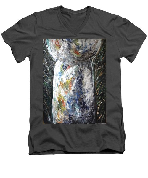 Earth Latte Stone Men's V-Neck T-Shirt
