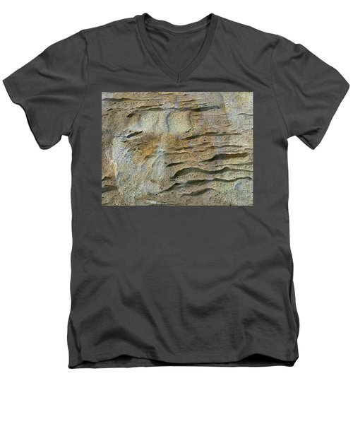 Men's V-Neck T-Shirt featuring the photograph Earth Memories-sleeping River # 2 by Ed Hall