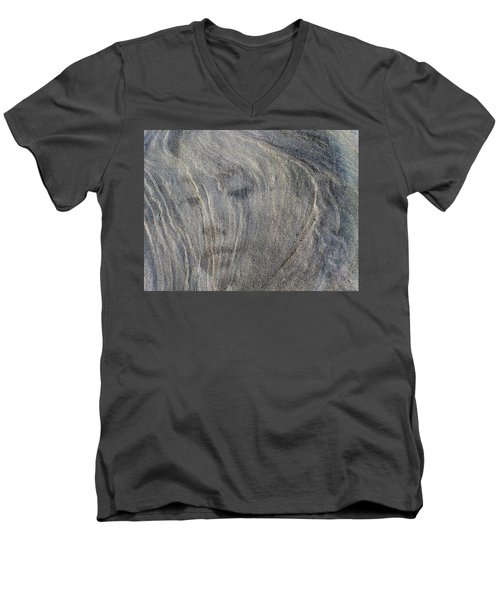 Men's V-Neck T-Shirt featuring the photograph Earth Memories - Sleeping River # 3 by Ed Hall