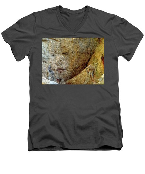 Men's V-Neck T-Shirt featuring the photograph Earth Memories - Stone # 5 by Ed Hall