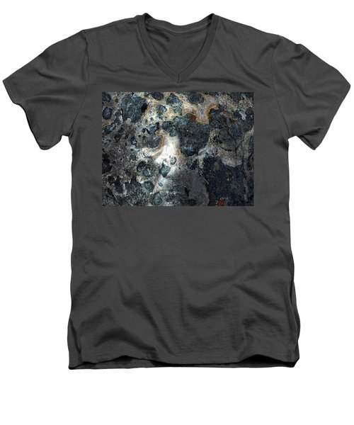Men's V-Neck T-Shirt featuring the photograph Earth Memories - Stone # 8 by Ed Hall