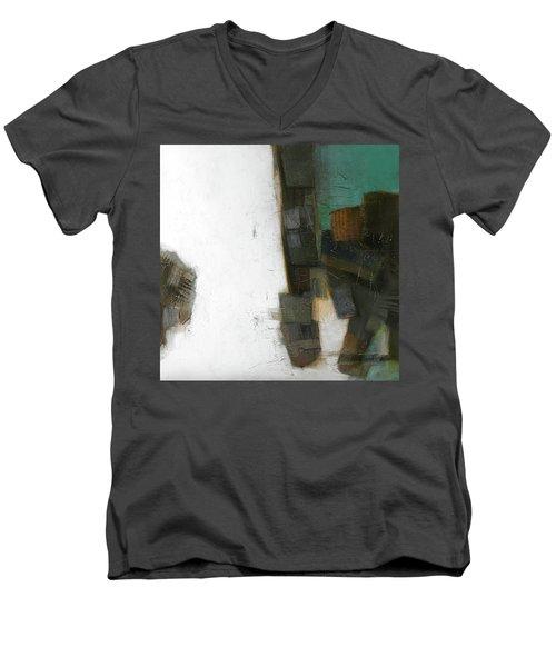 Earth Pattern Men's V-Neck T-Shirt by Behzad Sohrabi