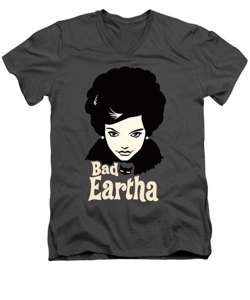 Eartha Kitt - That Bad Eartha Retro Poster Men's V-Neck T-Shirt