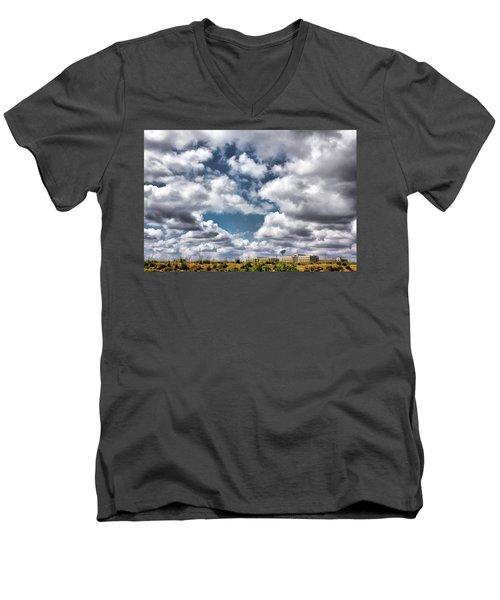 Earthbound - Live Oak Texas Men's V-Neck T-Shirt by Wendy J St Christopher