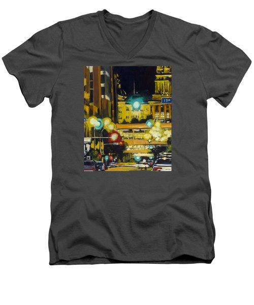 East 13th And Locust St Des Moines Men's V-Neck T-Shirt