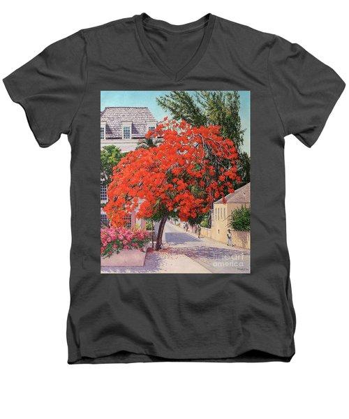 East And Shirley Street Men's V-Neck T-Shirt