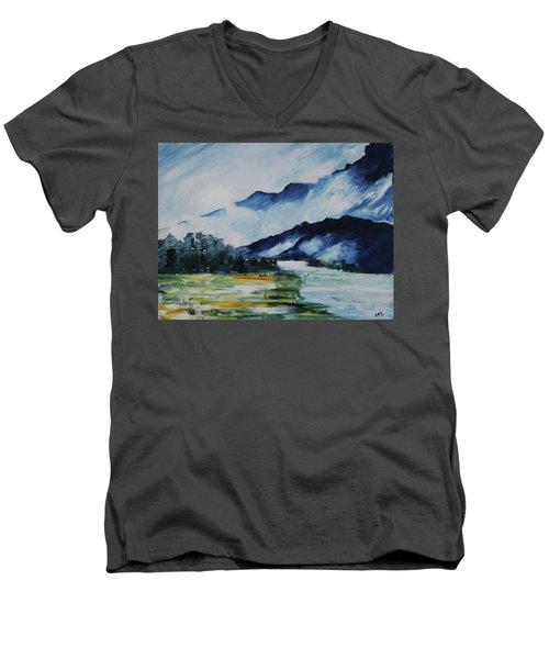 East Meets West Men's V-Neck T-Shirt