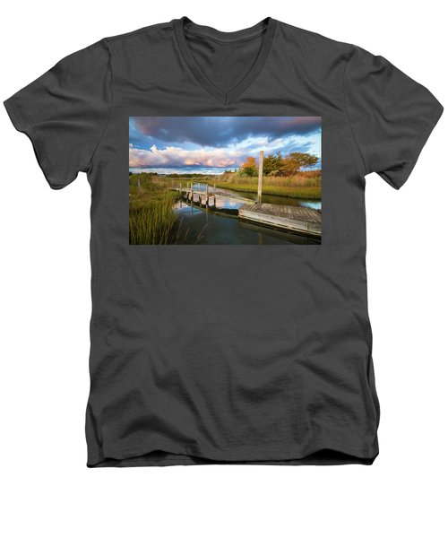 East Moriches Reflections Men's V-Neck T-Shirt