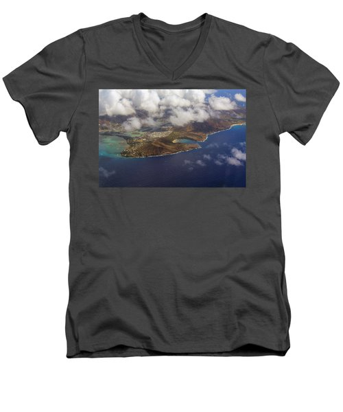 East Oahu From The Air Men's V-Neck T-Shirt