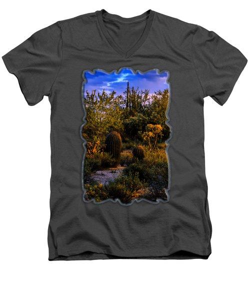 East Of Sunset V40 Men's V-Neck T-Shirt by Mark Myhaver