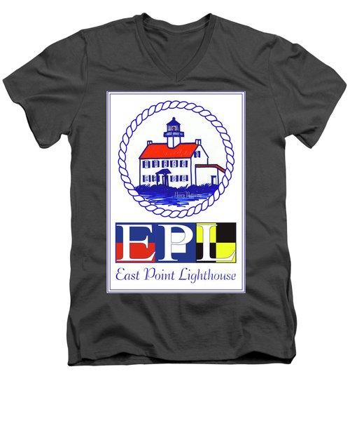 East Point Lighthouse Poster - 2 Men's V-Neck T-Shirt