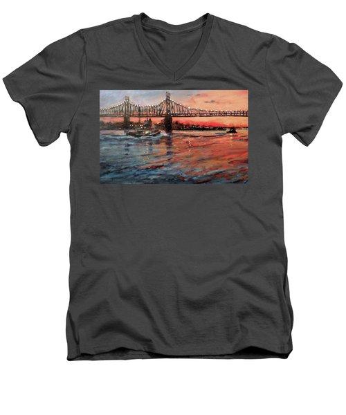 East River Tugboats Men's V-Neck T-Shirt