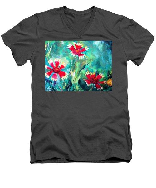 East Texas Wild Flowers Men's V-Neck T-Shirt