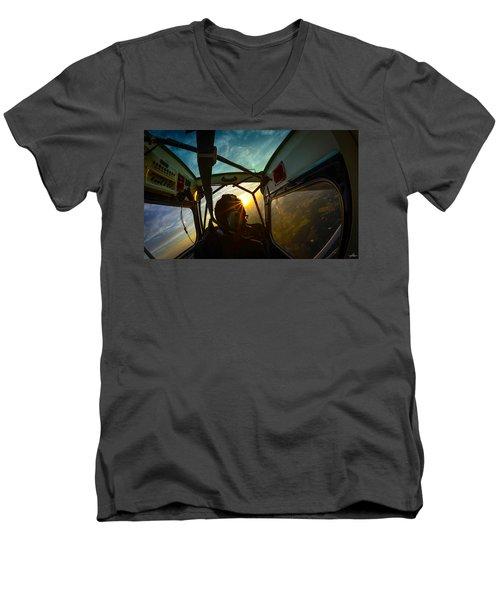 East Towards The Dawn Men's V-Neck T-Shirt
