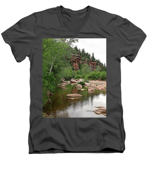 East Verde Spring Crossing Men's V-Neck T-Shirt
