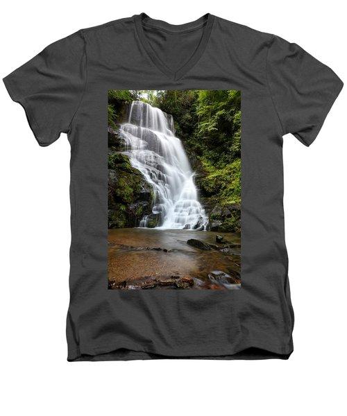Eastatoe Falls Rages Men's V-Neck T-Shirt