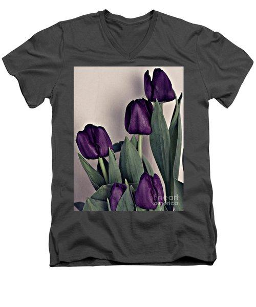 A Display Of Tulips Men's V-Neck T-Shirt