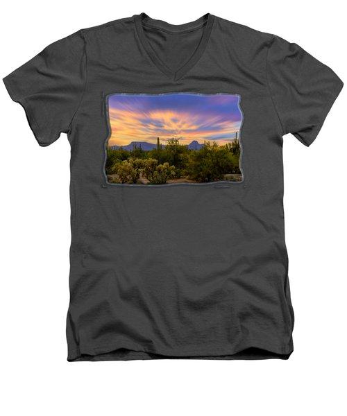 Easter Sunset H18 Men's V-Neck T-Shirt by Mark Myhaver