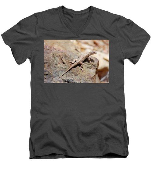Eastern Fence Lizard, Sceloporus Undulatus Men's V-Neck T-Shirt