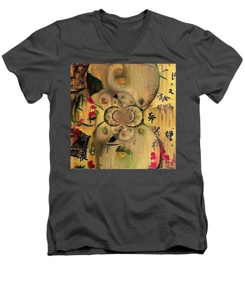 Eastern Motif Men's V-Neck T-Shirt