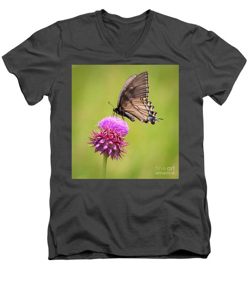 Eastern Tiger Swallowtail Dark Form  Men's V-Neck T-Shirt