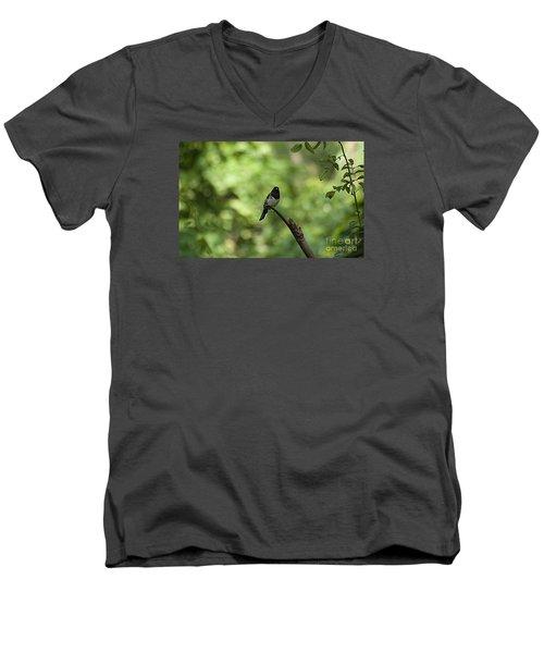 Men's V-Neck T-Shirt featuring the photograph Eastern Towhee 20120707_52a by Tina Hopkins