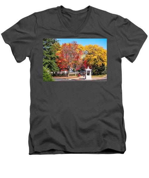 Easthampton Center In The Fall Men's V-Neck T-Shirt