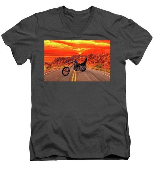 Easy Rider Chopper Men's V-Neck T-Shirt