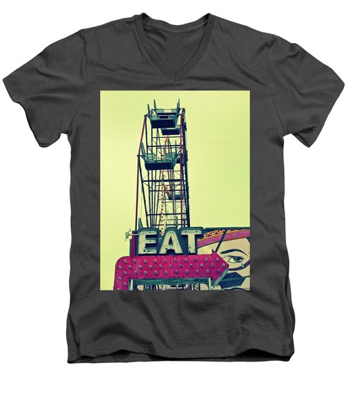 Eat Sign Men's V-Neck T-Shirt