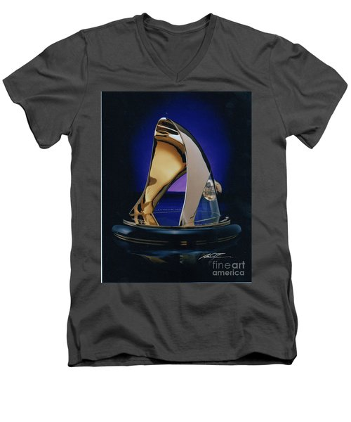 Eaton Quality Award Sculpture  Men's V-Neck T-Shirt